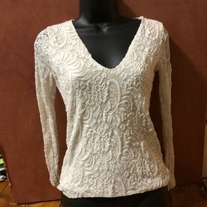 Abercrombie & Fitch White Lace Top size Xs
